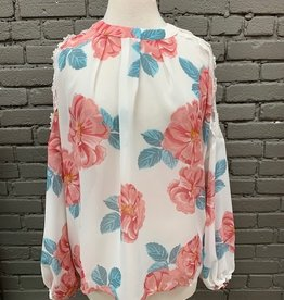 Blouse Anna Cold Shoulder Floral Top