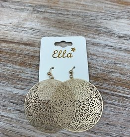 Jewelry Gold Mandala Design Earrings