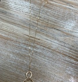 Jewelry Long Gold 2 Circle Necklace