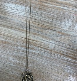 Jewelry Long Gold Horse Head Necklace