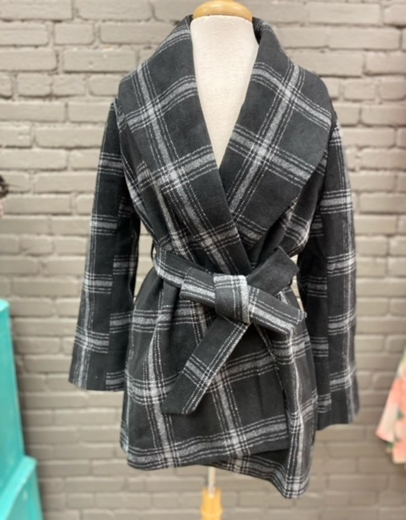 Jacket Winchester Black Plaid Coat