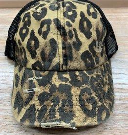Hat CC Criss Cross Leopard Cap