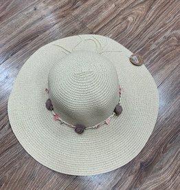 Hat Straw Hat w/ Flower Band
