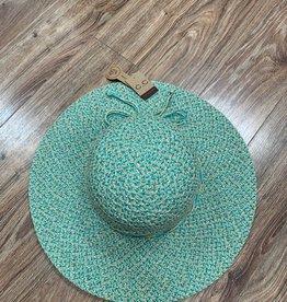 Hat Aqua Braided Straw Hat