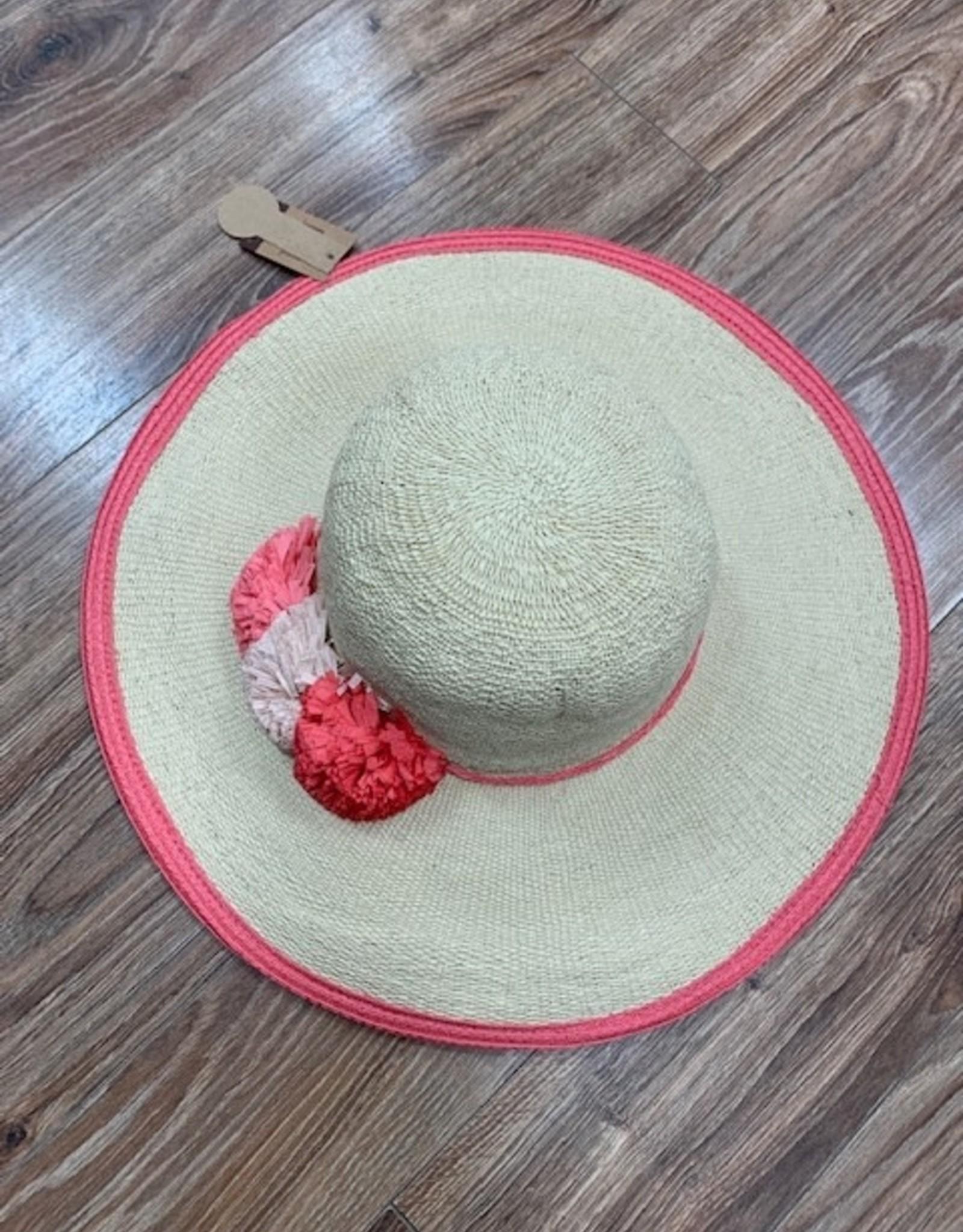 Hat Flower Straw Floppy Hat