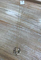 Jewelry Long Gold Blk/Wht Ray Necklace