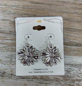 Jewelry Silver Flower Earrings