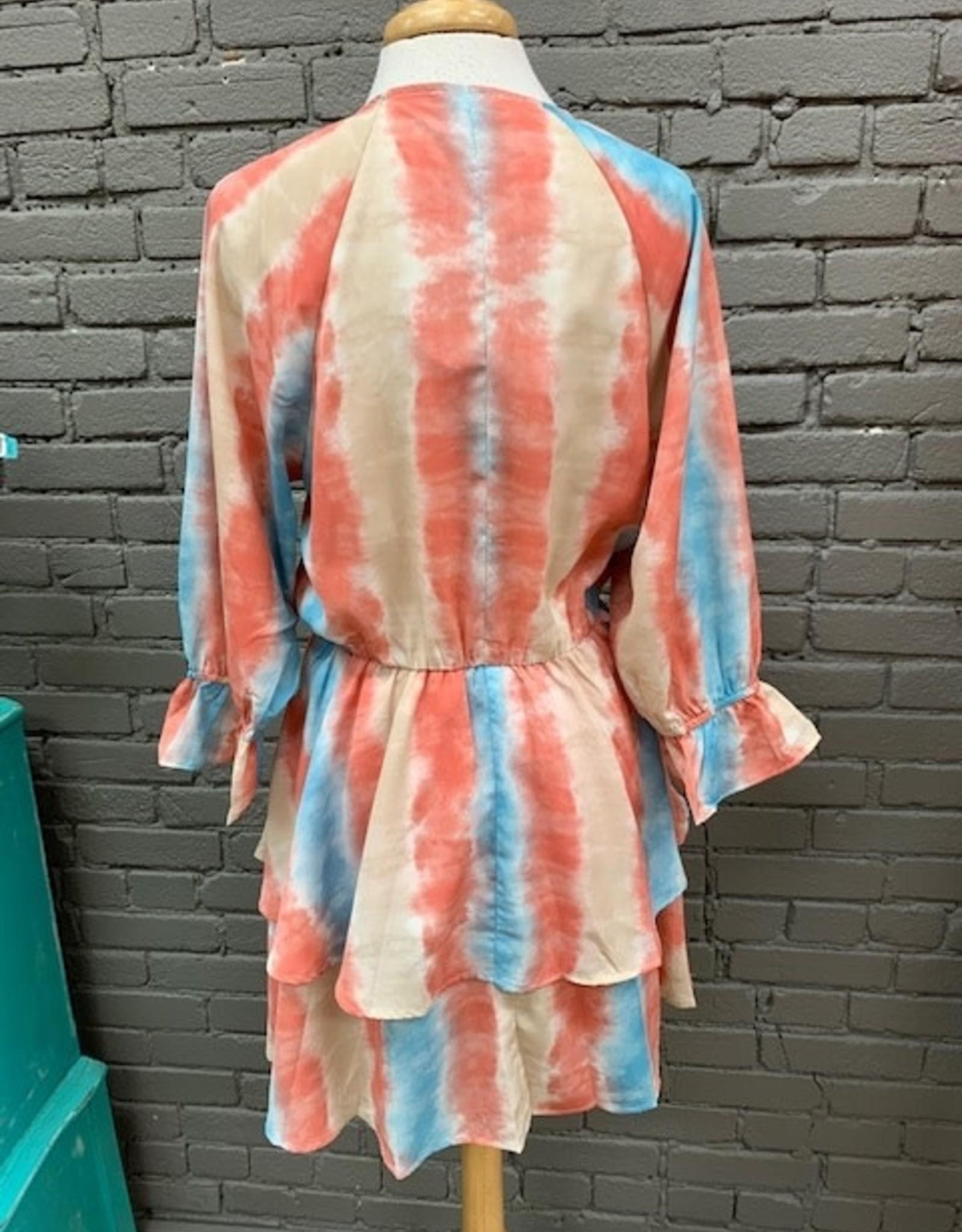 Dress Regina Tie Dye Layered Dress