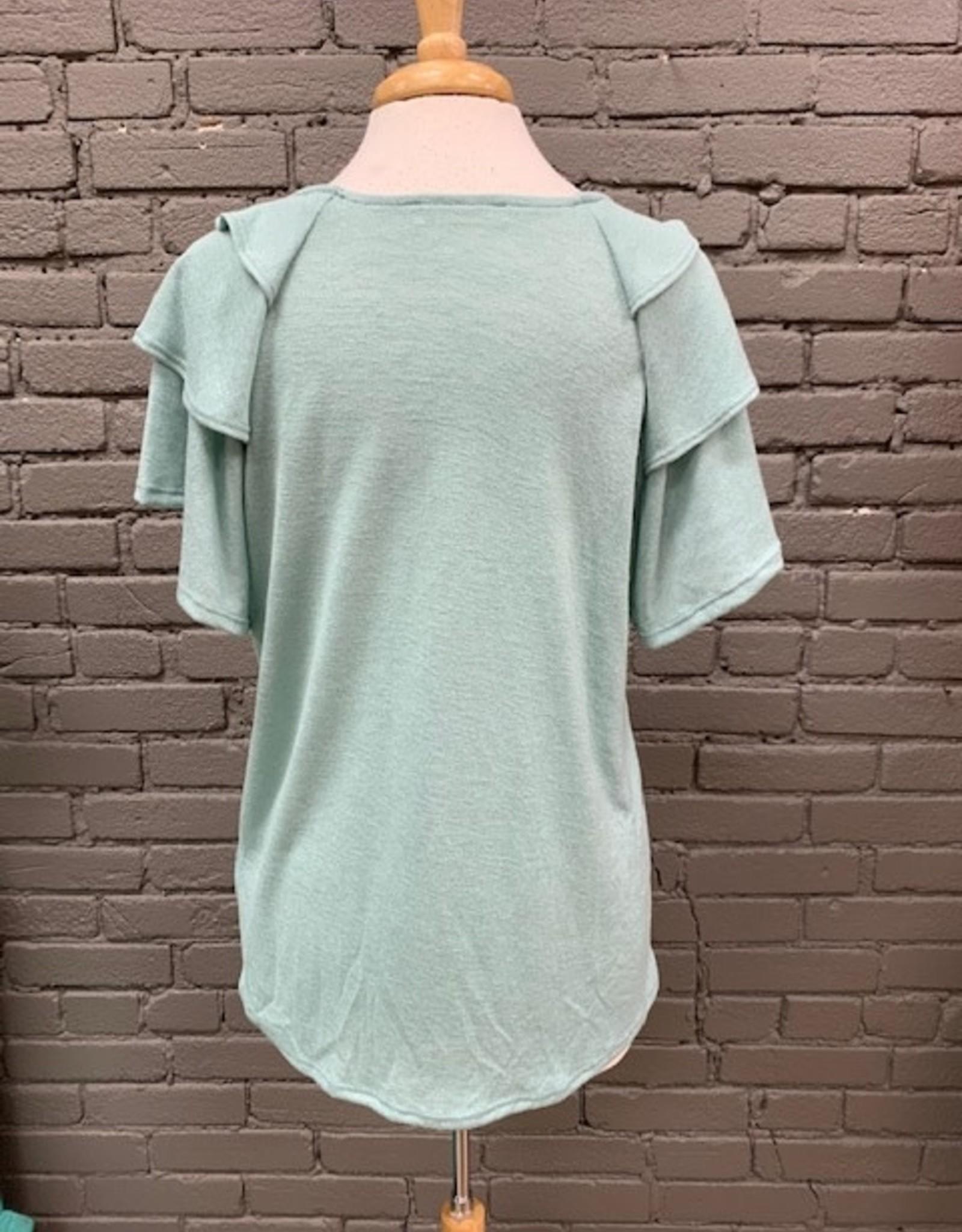 Shirt LeAnn Ruffle Sleeve Top