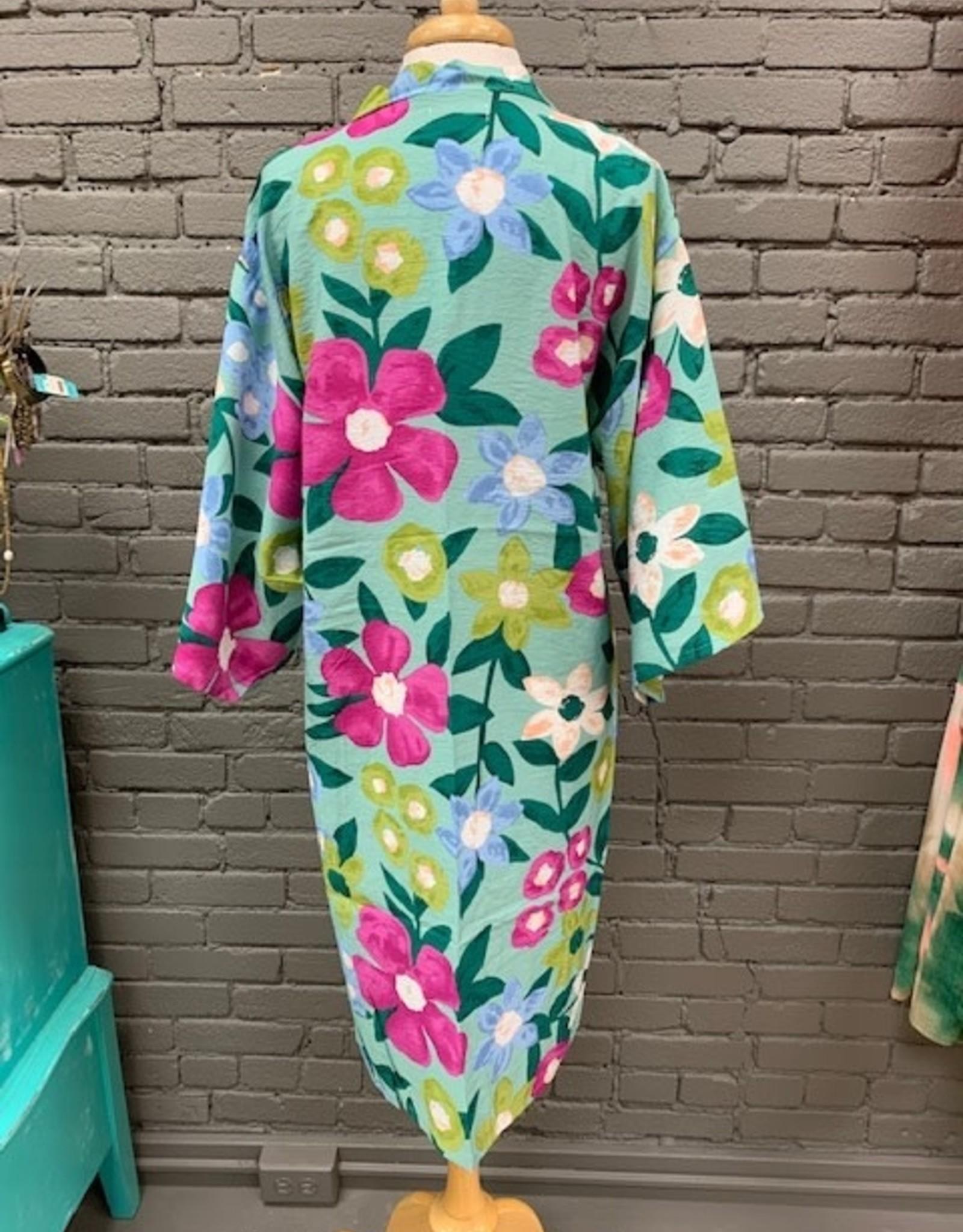 Kimono Martha Vibrant Floral Kimono