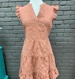 Dress Delilah Textured Ruffle Dress