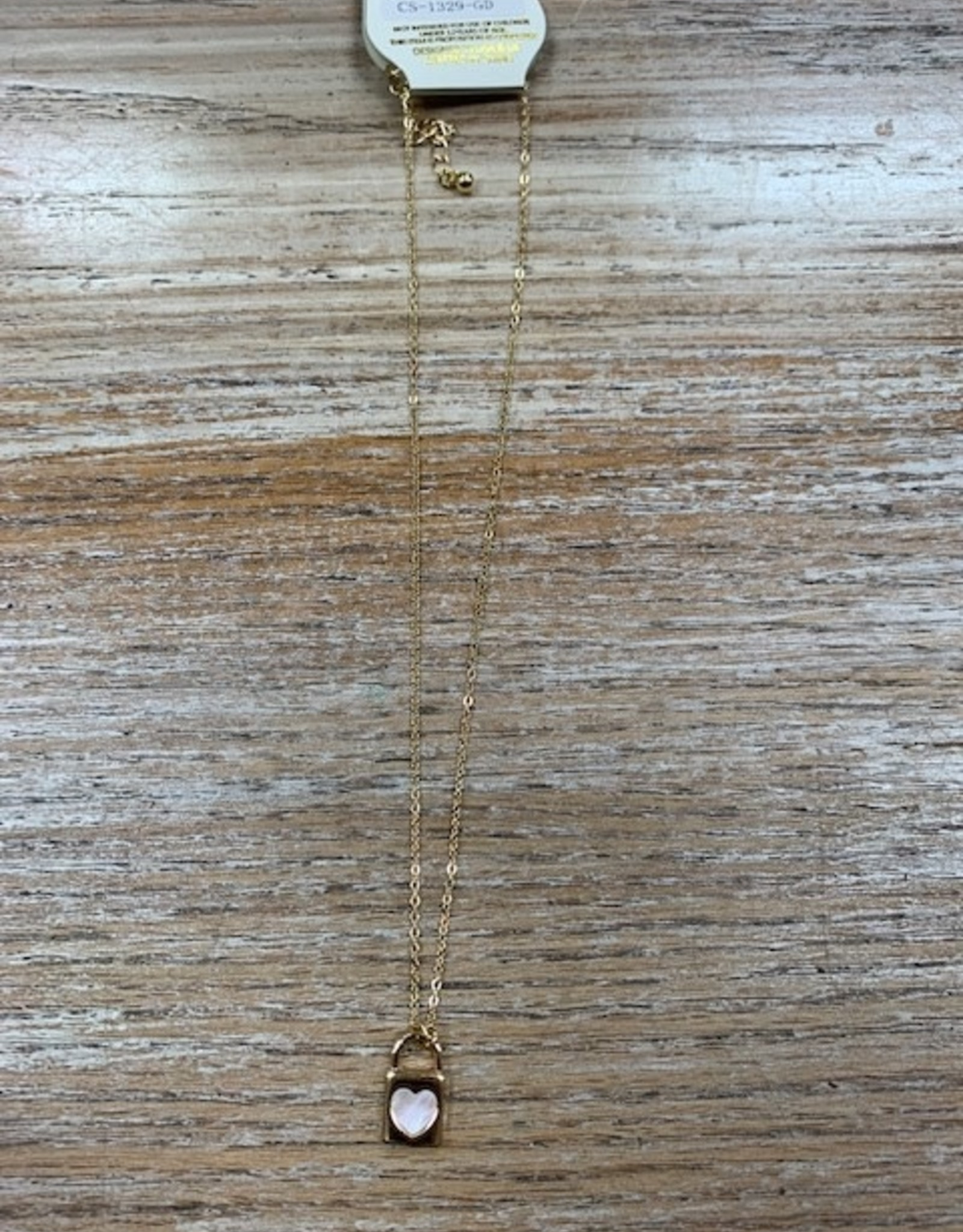Jewelry Heart Lock Gold Necklace