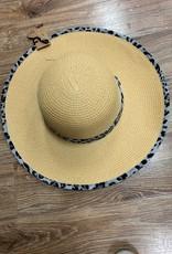 Hat Leopard Straw Floppy Hat