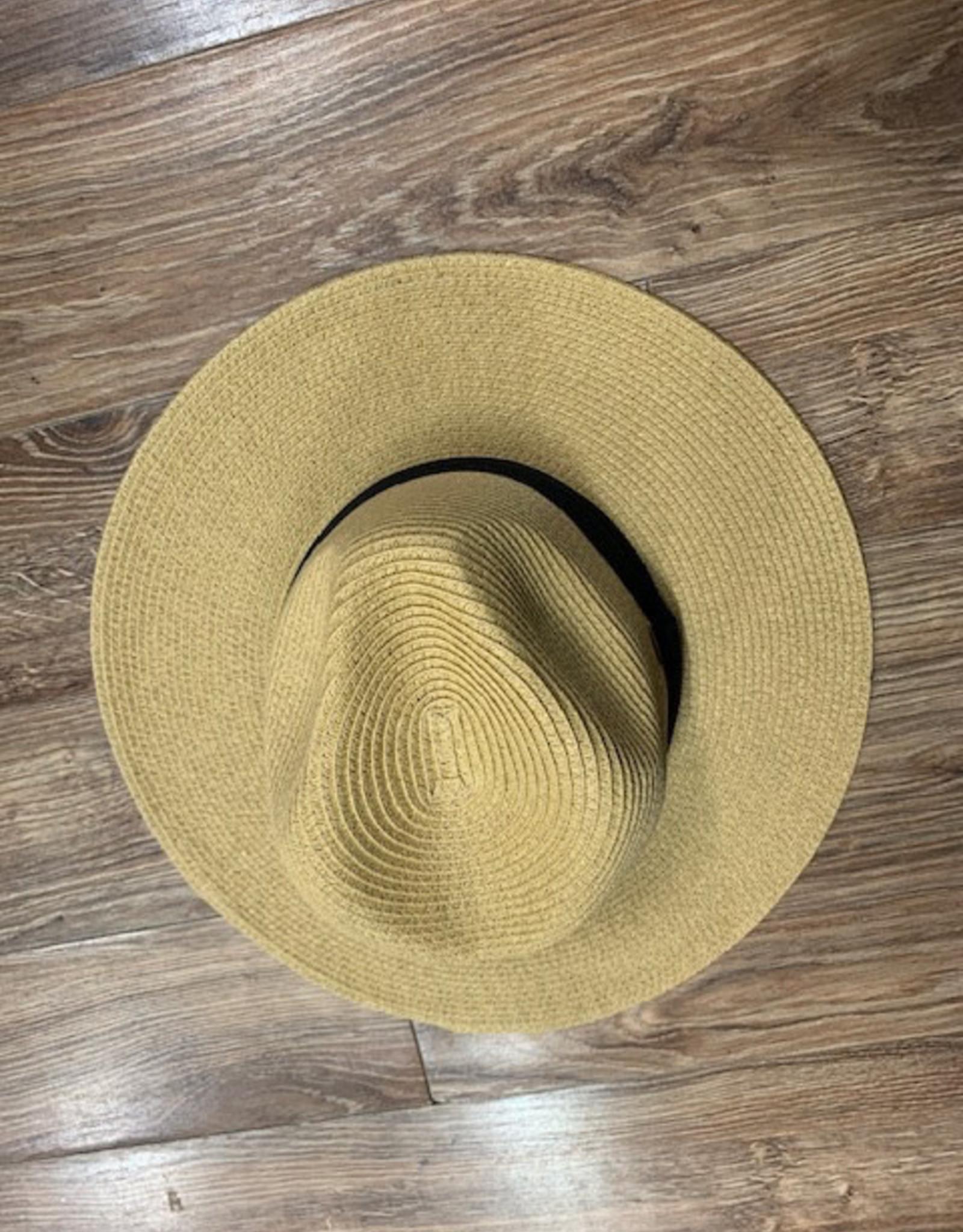 Hat Straw Floppy w/ Band Hat