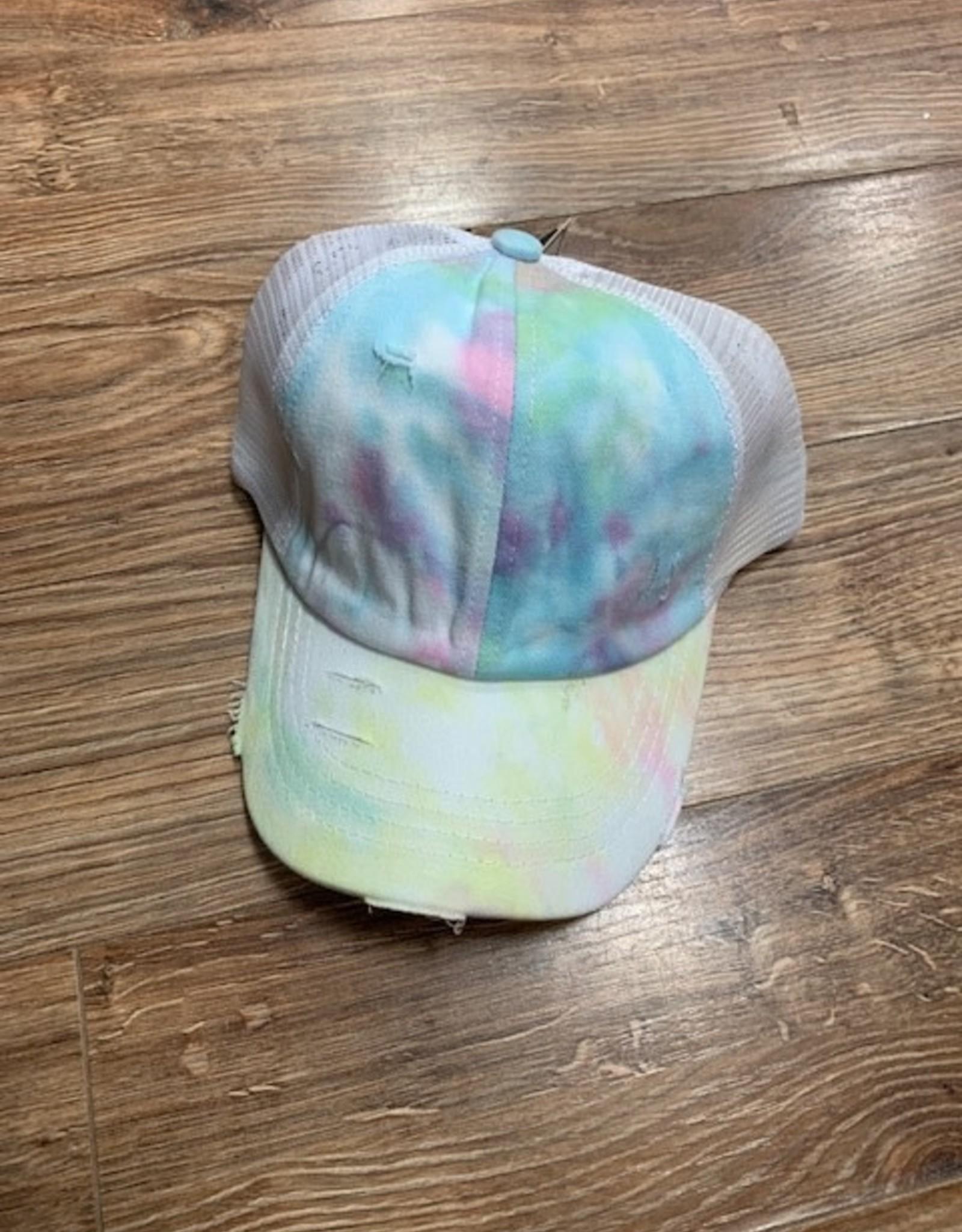 Hat Tie Dye Criss Cross Cap