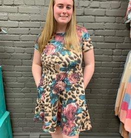 Dress Jamie Leopard Floral Pocket Dress