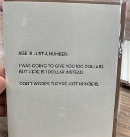 Card Age Is Number Card