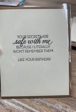 Card Secrets Are Safe Card