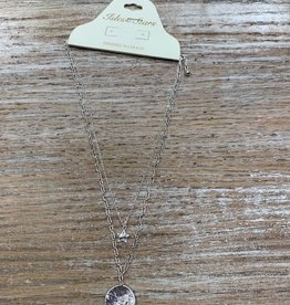 Jewelry Silver Double Chain Star Necklace