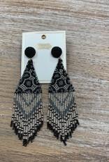 Jewelry Beaded Leopard Earrings