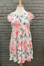 Dress Maya Babydoll Floral Tiered Dress