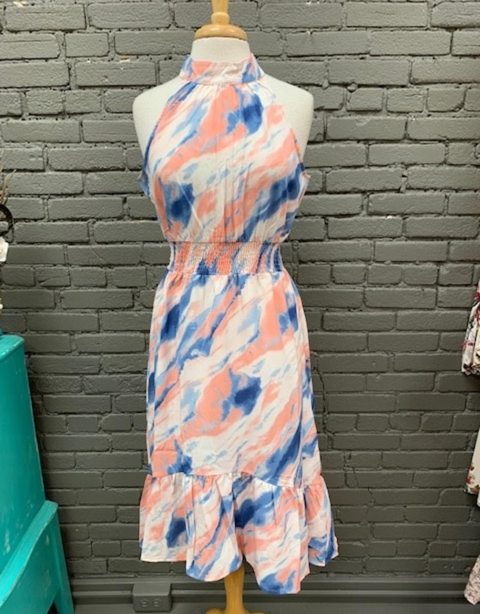 Dress Nova Splash Halter Midi Dress