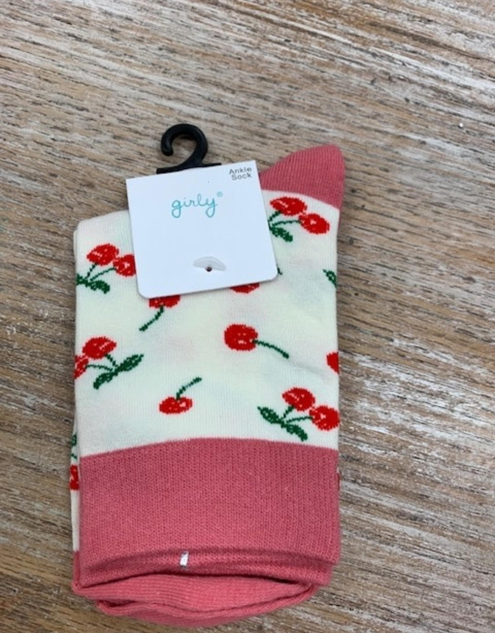 Socks White Cherry Socks