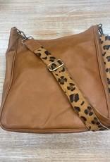 Bag Brown Leather Messenger Leopard Bag