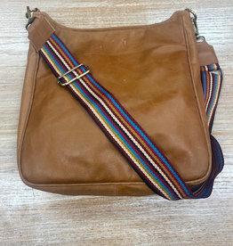 Bag Brown Leather Messenger Striped Bag