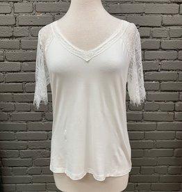 Shirt Braden White Lace Top