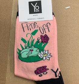 Socks Women's Crew Socks, Frog Off