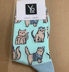 Socks Women's Crew Socks- Cats