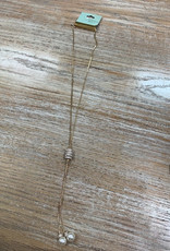 Jewelry Gold Chain Necklace w/ Pearls
