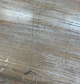 Jewelry Long Silver Geometric Necklace