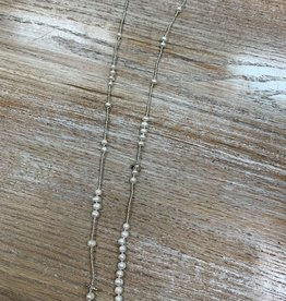 Jewelry Long Pearl Bead Necklace