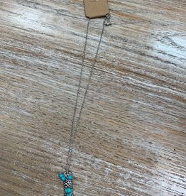Jewelry Silver Turquoise Pendant Necklace