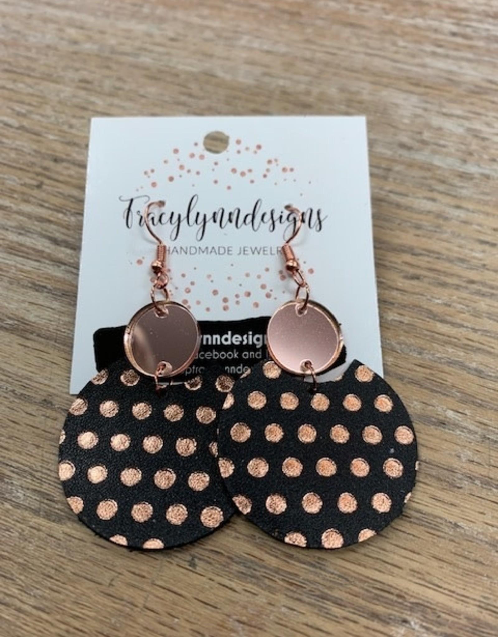 Jewelry TLD Rosegold Polka Dot Earrings