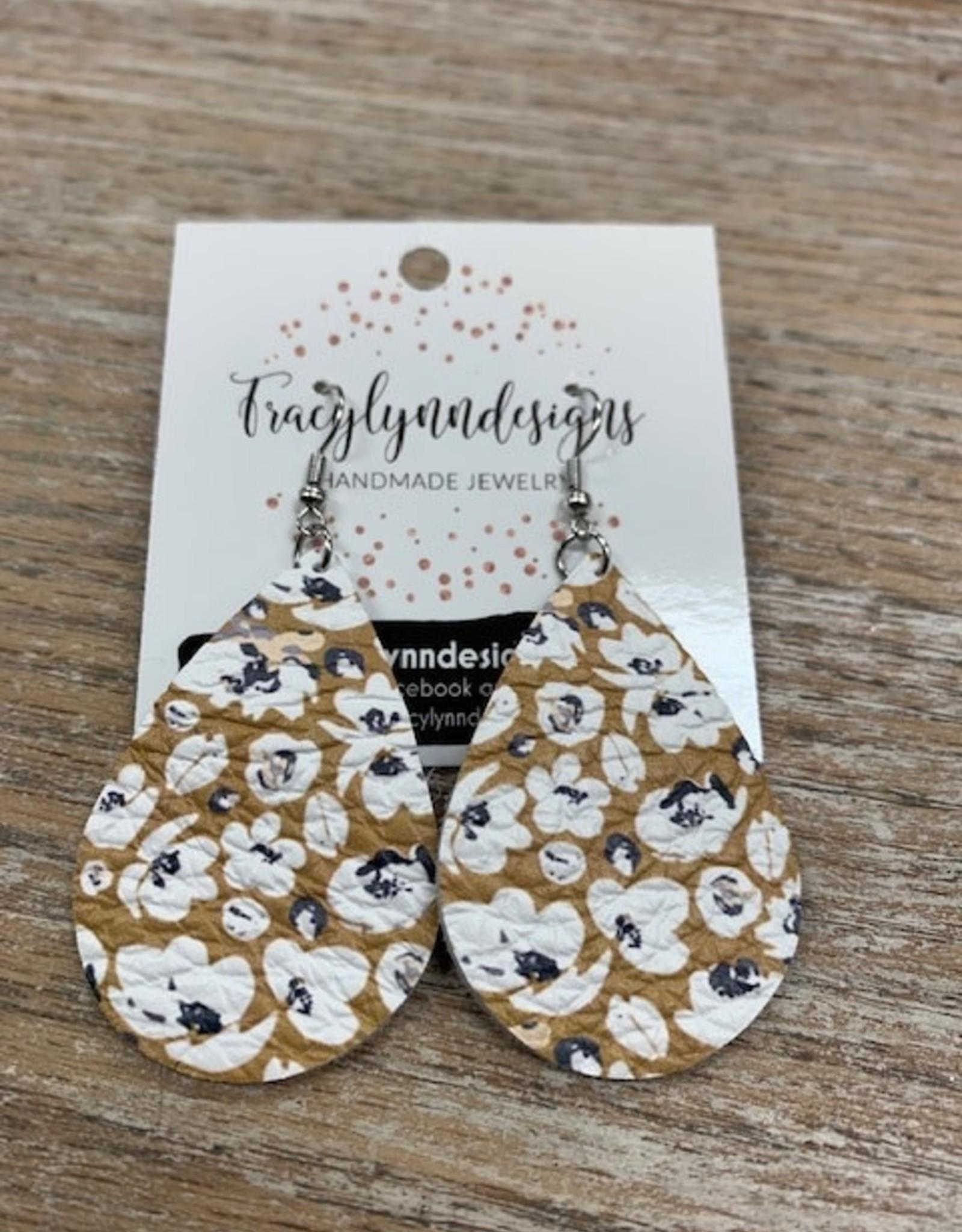 Jewelry TLD Mustard Floral Earrings