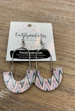 Jewelry TLD Chevron Metal Arches Earrings