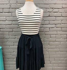 Dress Billie Stripe Tiered Tie Dress