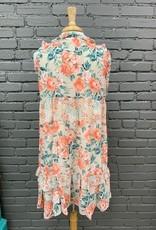 Dress Dallas Mixed Floral Ruffle Dress