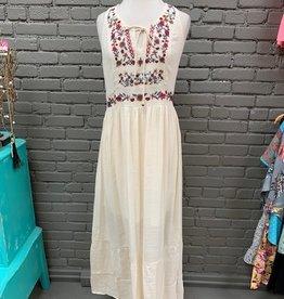 Dress Fawn Embroid Maxi Dress