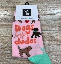 Socks Women's Crew Socks-DogB4Dudes
