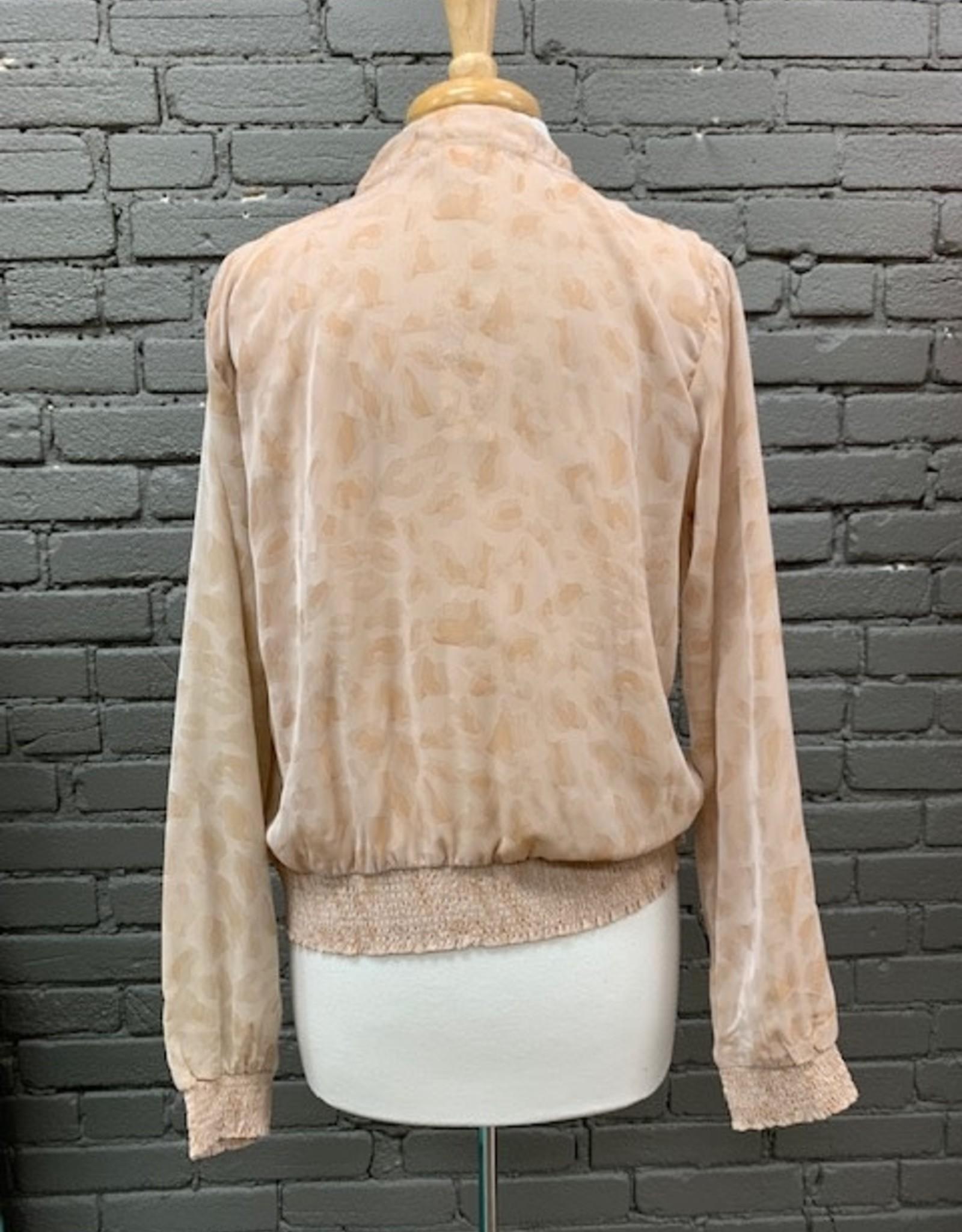 Jacket Liza Sheer Leopard Jacket