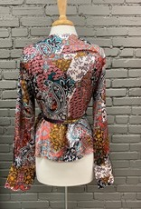 Long Sleeve Veronica Paisley Wrap Top