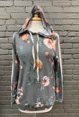Long Sleeve Fiona Floral Lace Hooded LS
