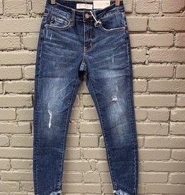Jean Nala Mid Rise Skinny w/ Fray Jeans