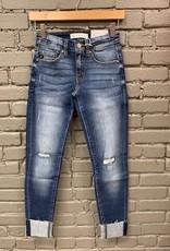 Jean Stella Low Rise Rip Ankle Skinny Jeans