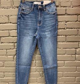 Jean Layna High Rise Frayed Bottom Skinny Jeans