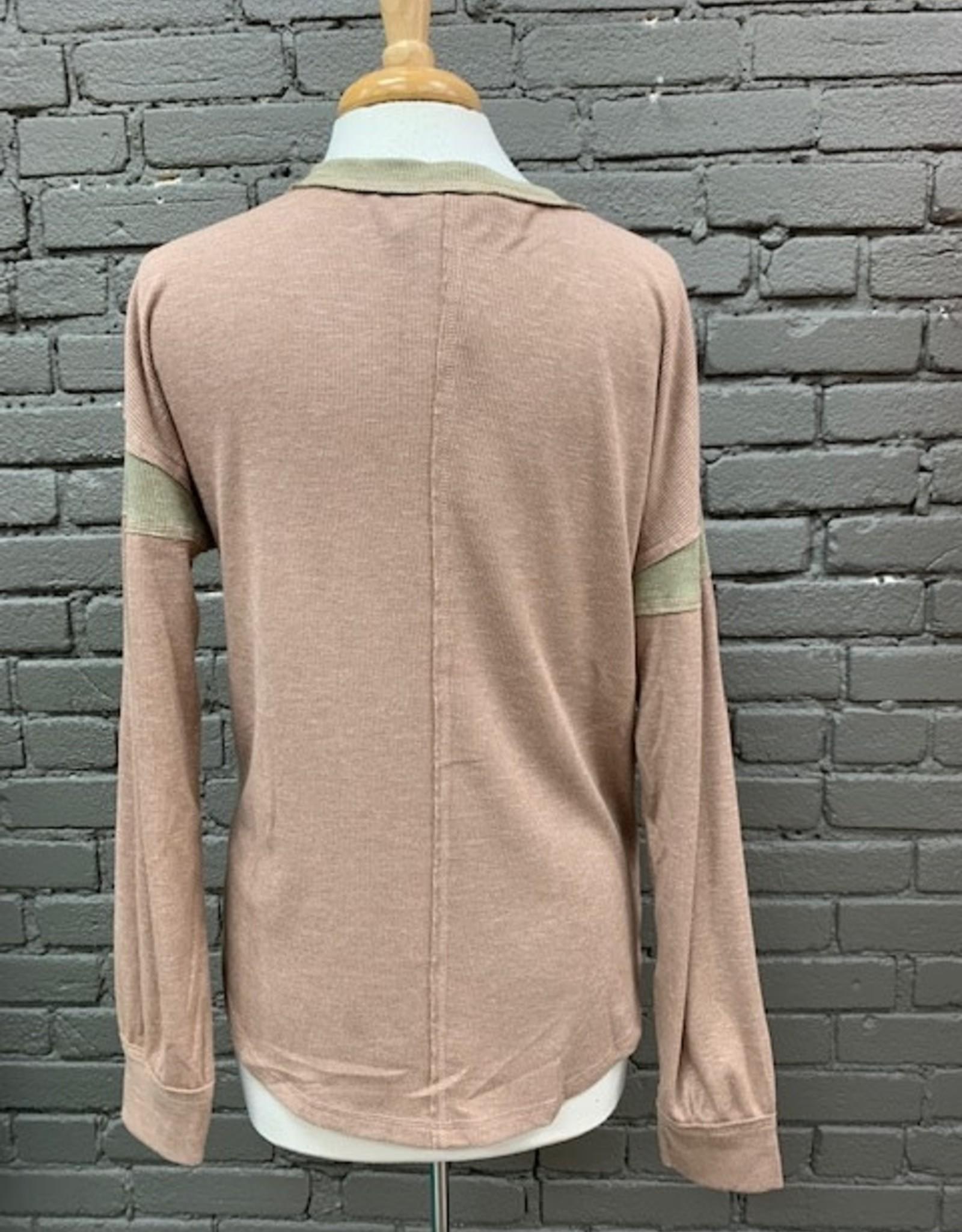 Long Sleeve Phoebe Colorblock Rib LS